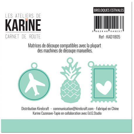 Dies Carnet de Route Breloques estivales -Les Ateliers de Karine