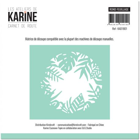Die Carnet de Route Rond Feuillage -Les Ateliers de Karine