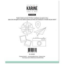 Sewing stencil Carnet de Route Kit Voyage -Les Ateliers de Karine