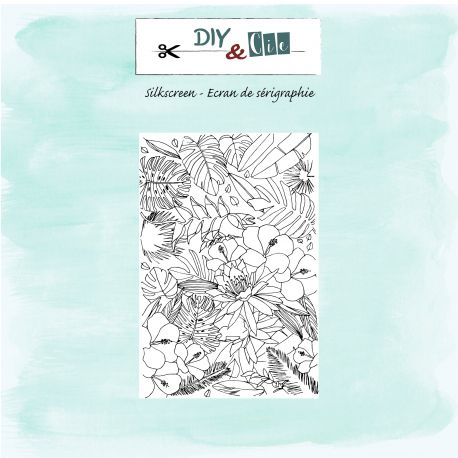 Silkscreen : Feuillage tropical - DIY and Cie