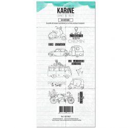 Clear Stamp Carnet de route En voiture ! - Les Ateliers de Karine