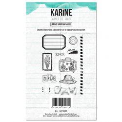 Tampon clear Carnet de route Jamais sans ma valise- Les Ateliers de Karine