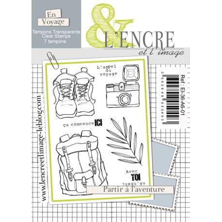 Tampon clear - Partir à l'Aventure - L'Encre et l'Image