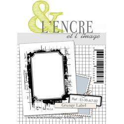 Tampon clear - Grunge Label - L'Encre et l'Image