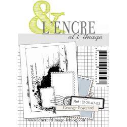 Clear Stamp - Grunge Postcard - L'Encre et l'Image