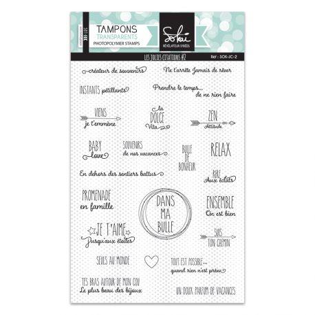 Clear stamps Les jolies Citations 2 - SOKAI