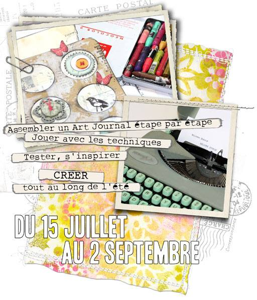 Kit estival  Art Journal Manuela Jamet et éphéméria