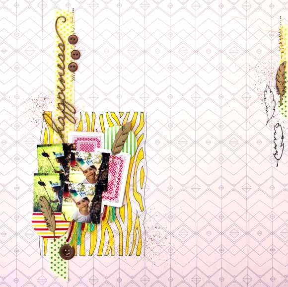 page avec boutons bois et ficelle de jute éphéméria by uckie