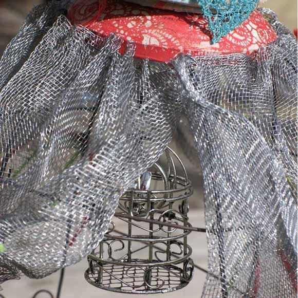cage oiseau breloque métal éphéméria