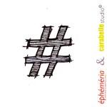 tampon Hashtag grunge éphéméria