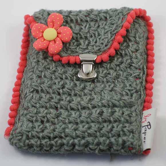 pochette en ficelle de jute crochet n°7- matériel Éphéméria