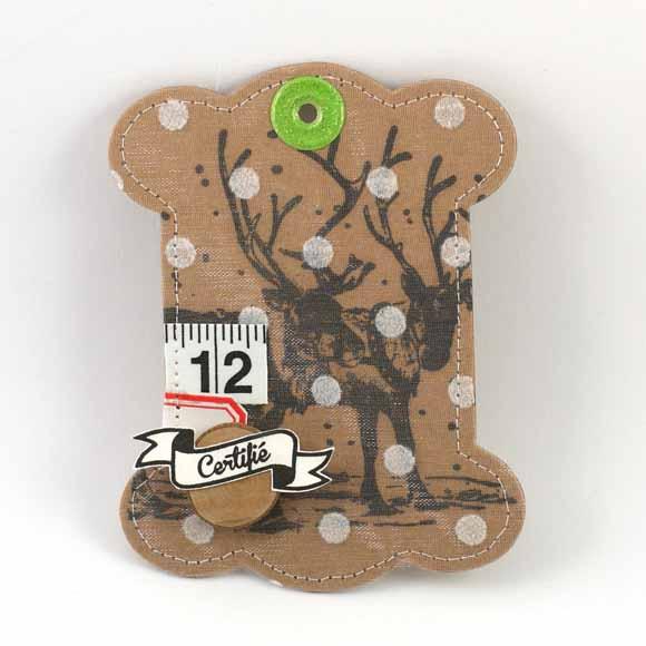 Calendrier de l'Avent avec un BIG Tag Éphéméria by Magali Rose Anis