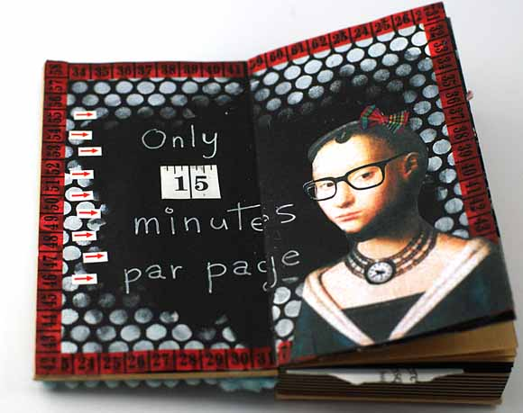 carnet étoile noir et kraft éphéméria by EdithR -mixed média- art jounal