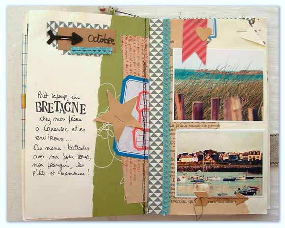 Art journal : carnet, étiquettes  Éphéméria  by Cricri