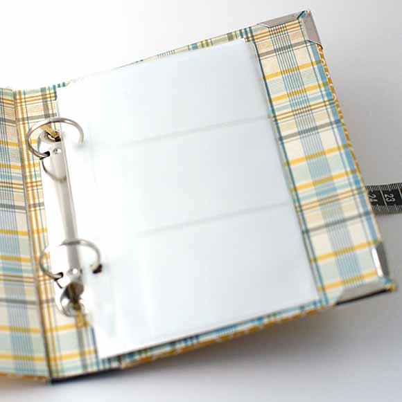 Catonnage-classeur cartes de visites avec mécanisme classeur éphéméria - By Edith-