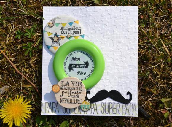 Carte avec bouton XXL éphéméria- By Sandrine Batchaka