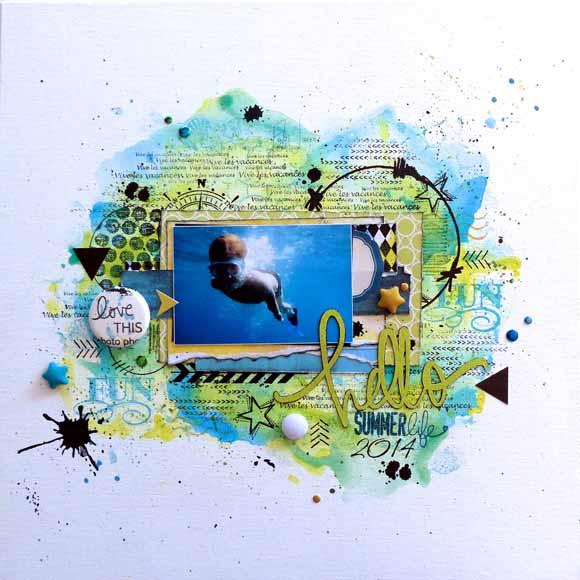 Pastilles étoiles et bulles de tissus éphéméria _ page de Fabi Jorro