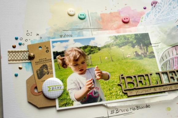 Pastilles, boutons, étiquette kraft et rubans sergé Ephéméria by Luckie