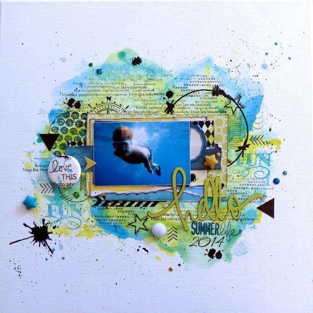 Pastilles, bulles et étoiles tissu Ephéméria by Fabi Jorro