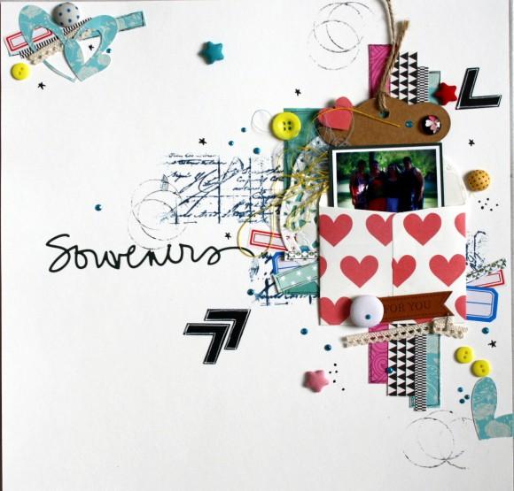 Enveloppe, tag, étiquettes, pastilles, boutons, bulles de tissu Ephéméria by Carine