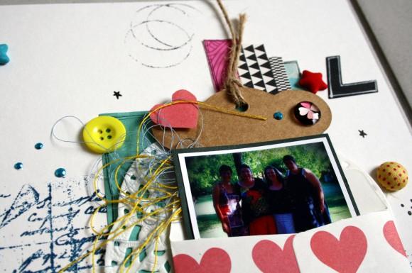 Enveloppe, tag, boutons et étoiles de tissu Ephéméria by Carine