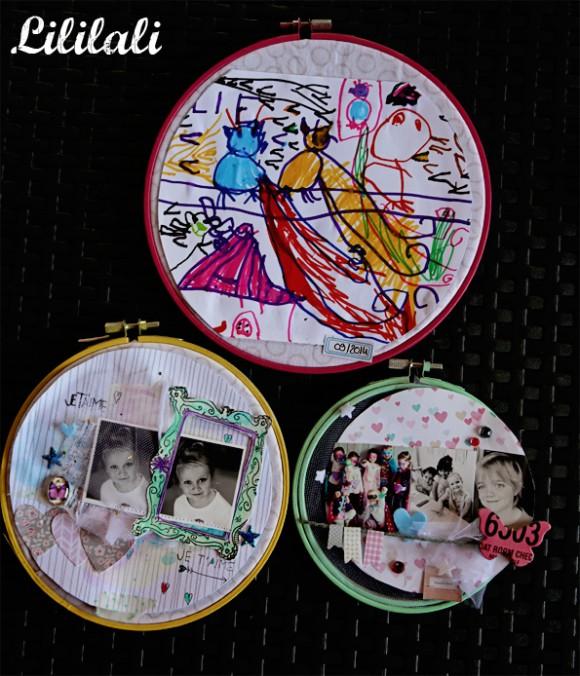 Cercles à broder, pastilles et cabochon Ephéméria by Lililali