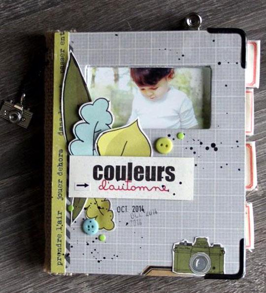 Jute, papiers 4h37, breloques et boutons Ephéméria by MiniMlescrap