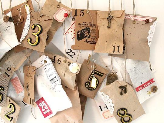 Tags et sachets kraft, breloques bronze, jeton de loto et kit doré Ephéméria by MiniMlescrap