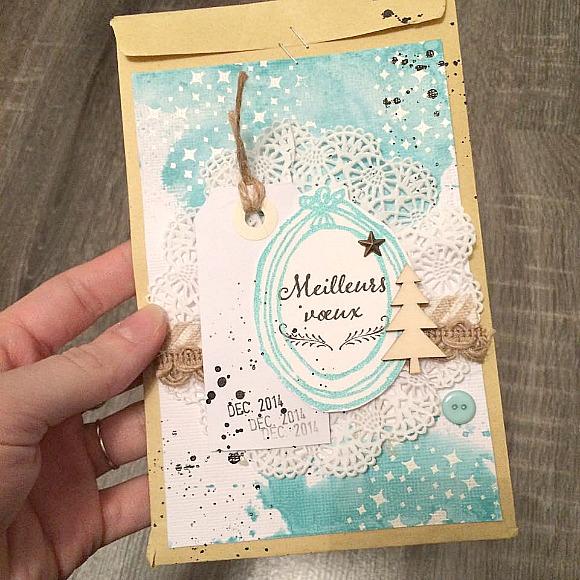 Enveloppe, boutons, étoile, galon et ficelle de jute Ephéméria by MiniMlescrap