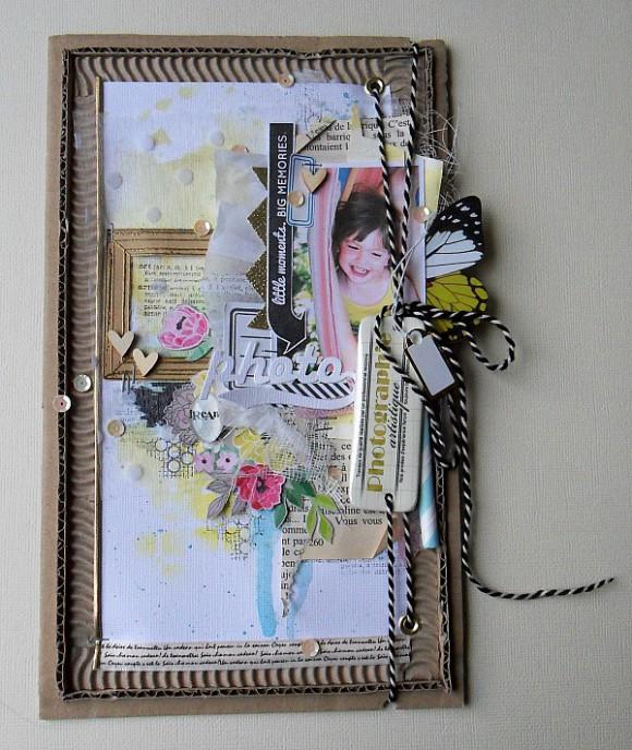 Cardstock, cabochon, Twine, kit doré et papillon Ephéméria by Mag de Rose Anis