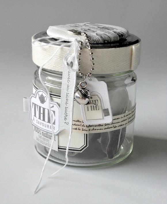 Cardstocks, chaînette boules, breloque et rubans Ephéméria by Mag de Rose Anis