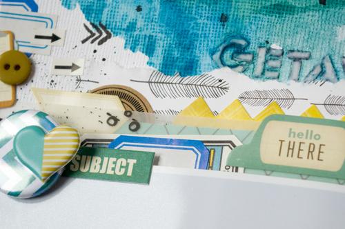 Cardstock, étiquettes, boutons et breloque Ephéméria by Luckie