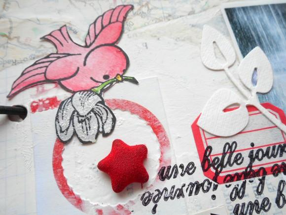 Etoile rouge et étiquette Ephéméria by Cricri04
