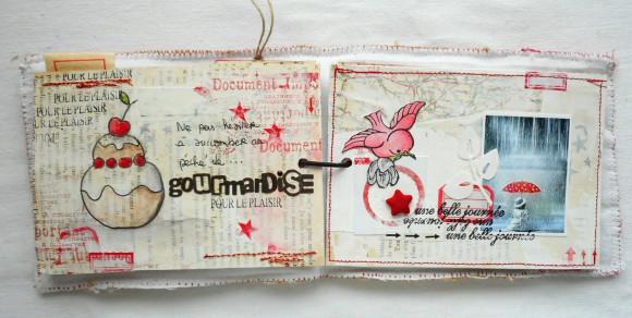 Etoile tissu, étoiles rouges autocollantes et étiquettes Ephéméria by Cricri04