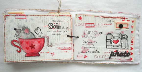 Sergé étiquettes, étiquettes et étoiles rouges Ephéméria by Cricri