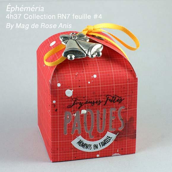 Papiers 4h37, ruban et breloque Ephéméria by Mag de Rose Anis