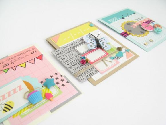 Papiers, stickers et dies 4h37, pastilles, roses, scotch, papillon, étoiles et bulles tissu Ephéméria by Julia Coron