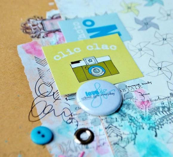 Papiers, boutons et ephemerae 4h37 et pastilles Ephéméria by Zyan
