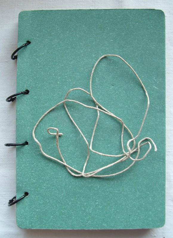 Carnet bleu et anneaux bronze Ephéméria by Cricri04