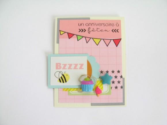 Cartes et papiers 4h37, cupcake, glace et étoile tissu Ephéméria by Julia Coron