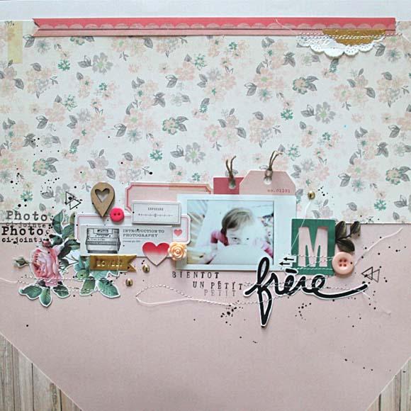 Boutons, breloque, rose, pastilles, tampons alphabet et petites fléches Ephéméria by MiniMlescrap
