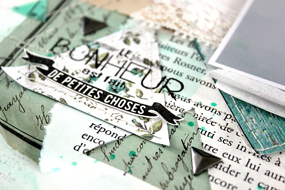 Triangles métallisés et cardstock blanc Ephéméria by Mackenzie Séverine Breton
