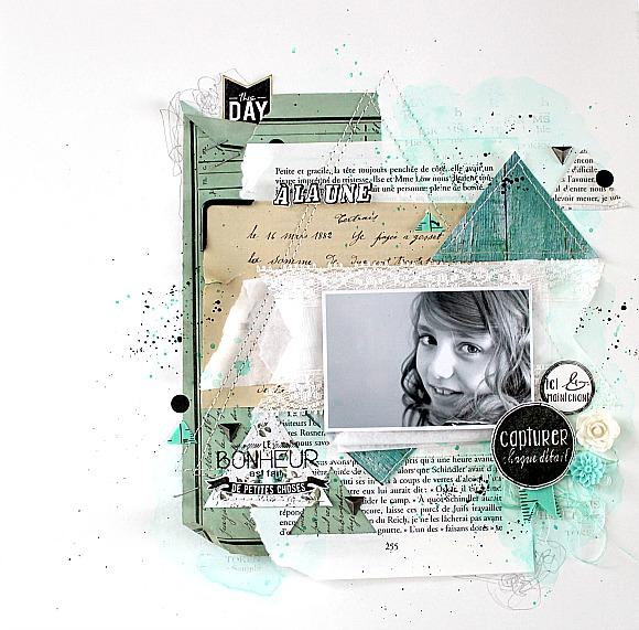 Mètre, cardstock, triangles métallisés, cardstock et coin industriel Ephéméria by Mackenzie Séverine Breton