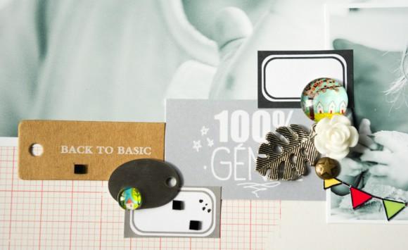 Papier, vignette et sticker 4h37, cabochons, pastilles, marque-ta-page, rose résine, étiquette métal, breloque et kibrilles carrés