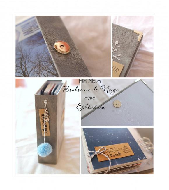 Breloque, coin, fermeture aimantée, mini tag et cardstock gris Ephéméria by Laure Lemaur