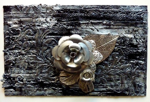 Embellissements métal, breloque et dentelle Ephéméria by Corinne Lagneux