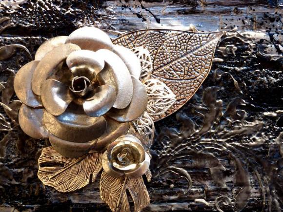Embellissements métal et dentelle Ephéméria by Corinne Lagneux