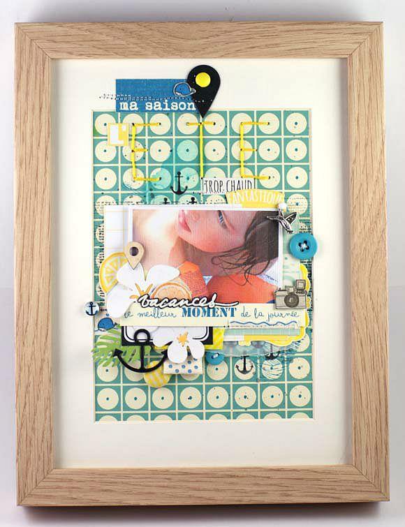 Papiers, vignettes et dies 4h37, tampons l'Encre et l'Image, ruban sergé, boutons, breloque, scotch, cabochon Ephéméria by Mag de Rose Anis