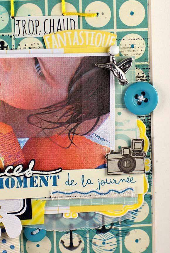 Papiers 4h37 et Ephéméria, tampons L'Encre et l'Image, ruban sergé, boutons et breloque Ephéméria by Mag de Rose Anis