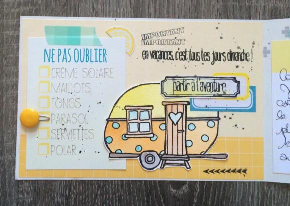 Papiers et vignettes 4h37, tampons L'Encre et l'Image, étiquettes et bulle cuir Ephéméria by MiniMlescrap